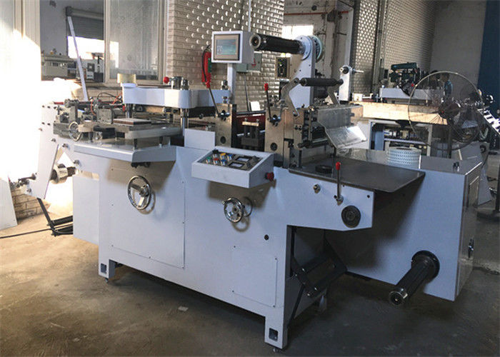 Adhesive Logo Automatic Label Cutter Machine 30 - 220 Press / Min Max Speed